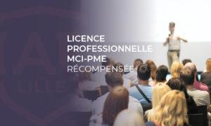 Licence professionnelle MCI -PME récompensée